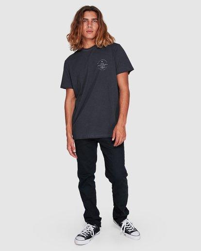 7 Wavy Davy Short Sleeve Tee Black 9507001 Billabong