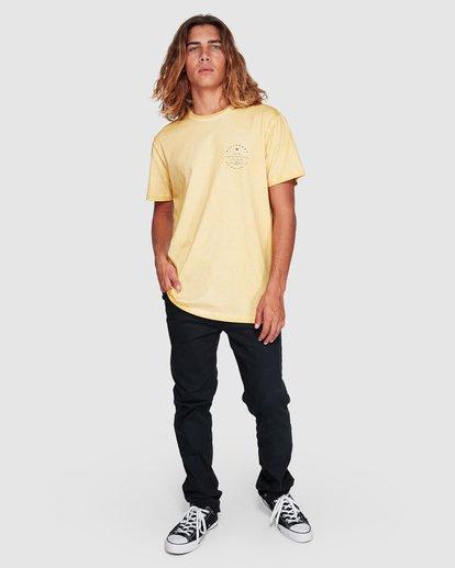 7 Wavy Davy Short Sleeve Tee Yellow 9507001 Billabong