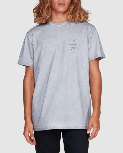 3 Wavy Davy Short Sleeve Tee Grey 9507001 Billabong