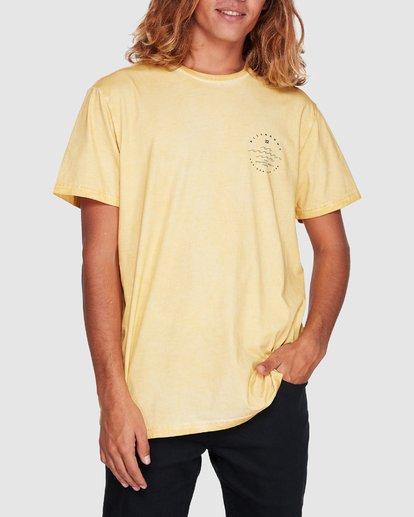 3 Wavy Davy Short Sleeve Tee Yellow 9507001 Billabong