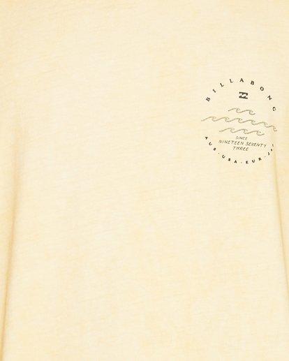 4 Wavy Davy Short Sleeve Tee Yellow 9507001 Billabong