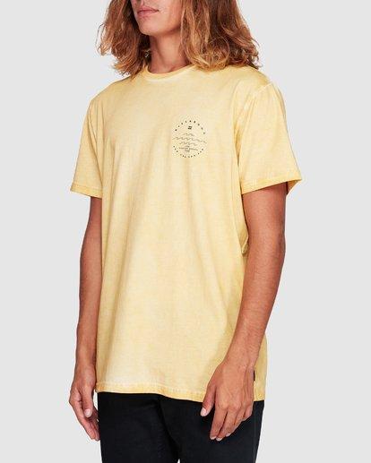 1 Wavy Davy Short Sleeve Tee Yellow 9507001 Billabong