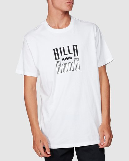 3 Thousand Stack Tee White 9507015 Billabong