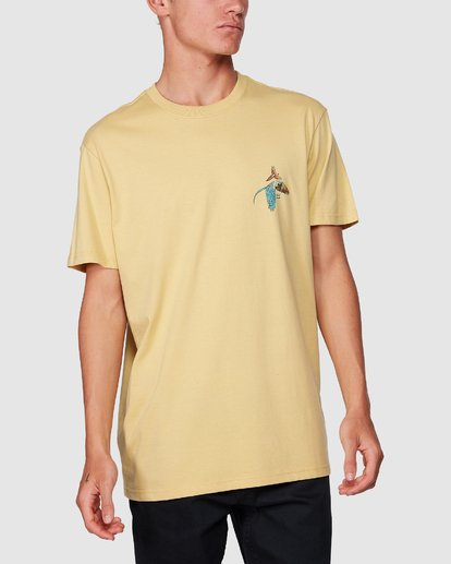 3 Parrot Bay Tee Yellow 9507027 Billabong
