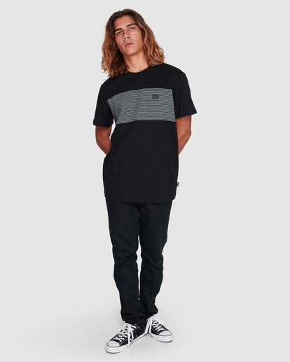 7 Banded Die Cut Tee Black 9507059 Billabong