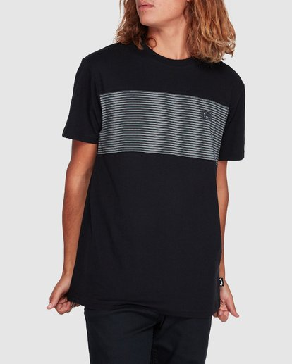 3 Banded Die Cut Tee Black 9507059 Billabong