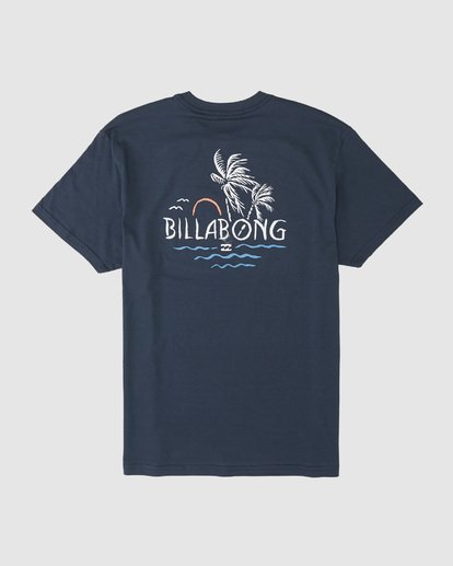 5 Social Club Tee Blue 9507061 Billabong