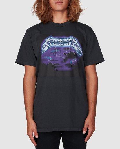 0 Metallica Ride The Lightening Short Sleeve Tee Black 9507081 Billabong
