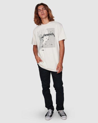 9 Metallica One Short Sleeve Tee White 9507083 Billabong