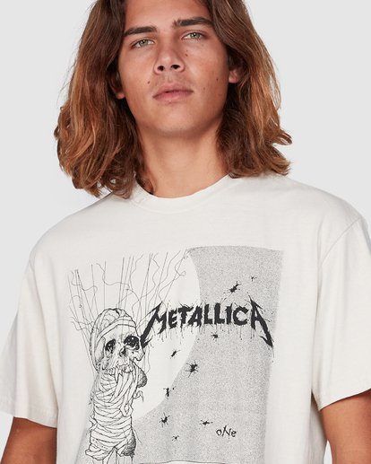 6 Metallica One Short Sleeve Tee White 9507083 Billabong