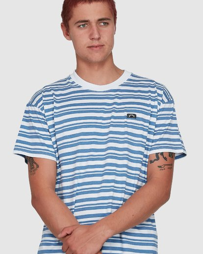 3 SIMMO STRIPE TEE Grey 9507086M Billabong
