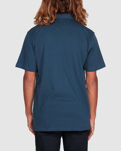 2 Banded Die Cut Polo Blue 9507140 Billabong