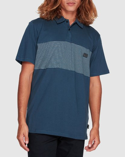 3 Banded Die Cut Polo Blue 9507140 Billabong