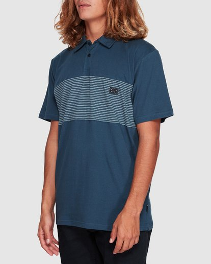 1 Banded Die Cut Polo Blue 9507140 Billabong