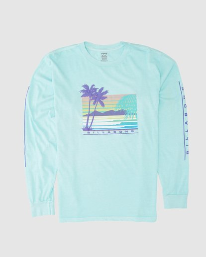4 Coastline Long Sleeve Tee Green 9507171 Billabong