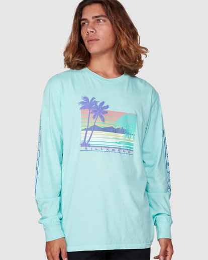 1 Coastline Long Sleeve Tee Green 9507171 Billabong