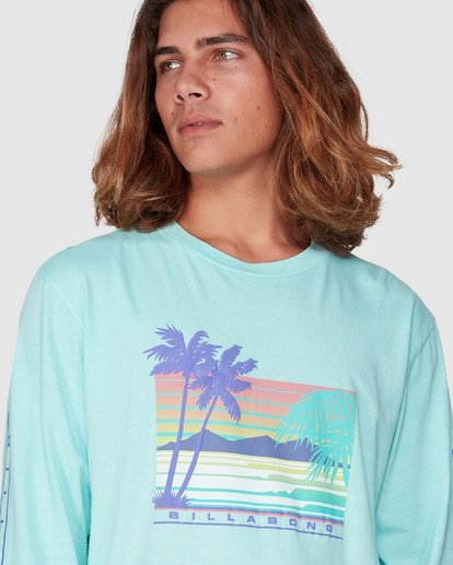 2 Coastline Long Sleeve Tee Green 9507171 Billabong