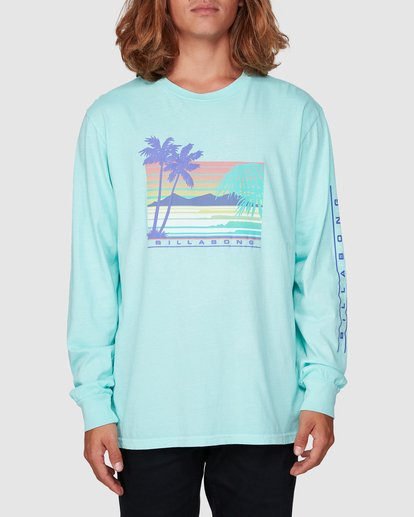 0 Coastline Long Sleeve Tee Green 9507171 Billabong