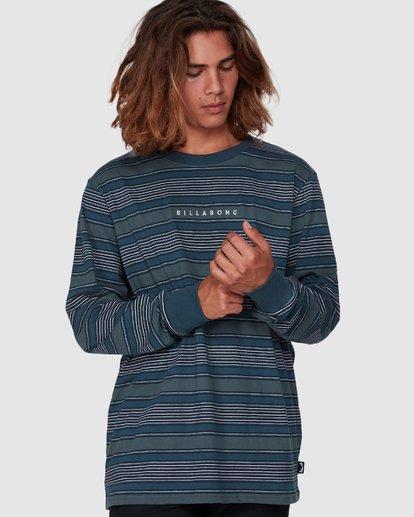 2 Mix Up Stripe Long Sleeve Tee Blue 9507175 Billabong