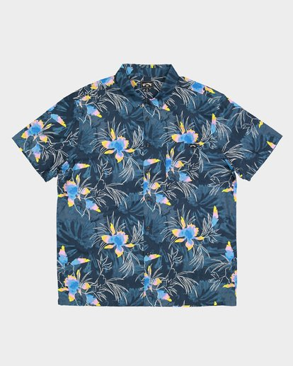 5 Sundays Floral Short Sleeve Shirt Blue 9507202 Billabong
