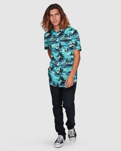 6 Sundays Floral Short Sleeve Shirt Blue 9507202 Billabong