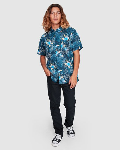 6 Sundays Floral Short Sleeve Shirt Blue 9507202 Billabong