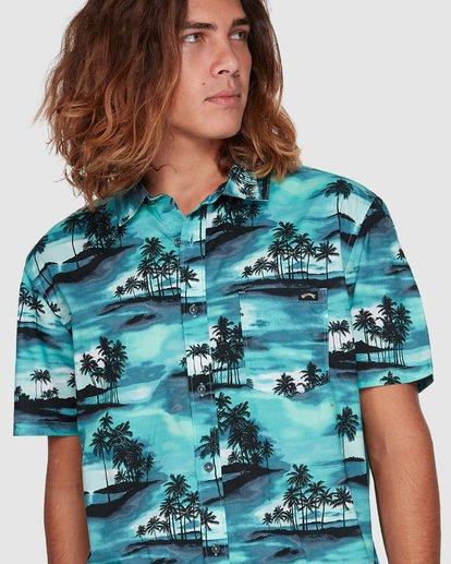 4 Sundays Floral Short Sleeve Shirt Blue 9507202 Billabong