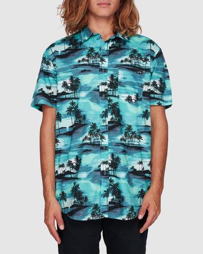 0 Sundays Floral Short Sleeve Shirt Blue 9507202 Billabong