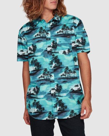 1 Sundays Floral Short Sleeve Shirt Blue 9507202 Billabong