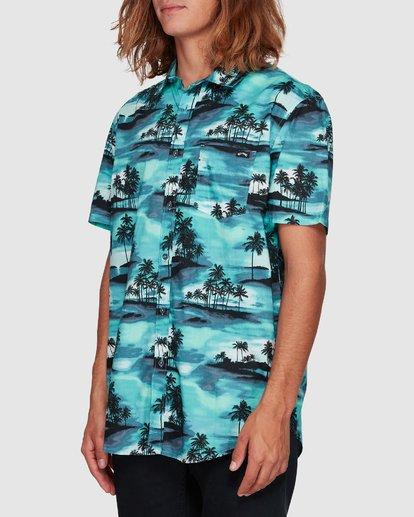2 Sundays Floral Short Sleeve Shirt Blue 9507202 Billabong