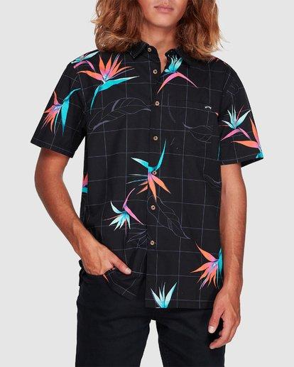 3 Sundays Floral Short Sleeve Shirt Black 9507202 Billabong