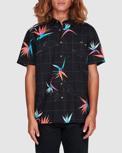 0 Sundays Floral Short Sleeve Shirt Black 9507202 Billabong