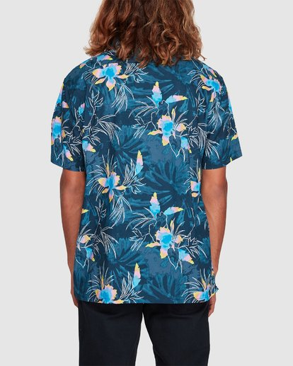 2 Sundays Floral Short Sleeve Shirt Blue 9507202 Billabong