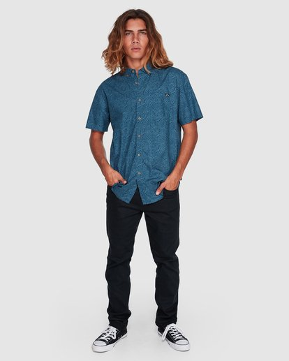 6 Sundays Mini Short Sleeve Shirt Blue 9507203 Billabong