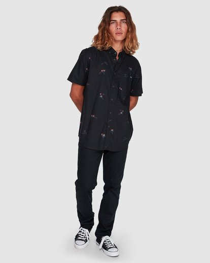 6 Sundays Mini Short Sleeve Shirt Black 9507203 Billabong
