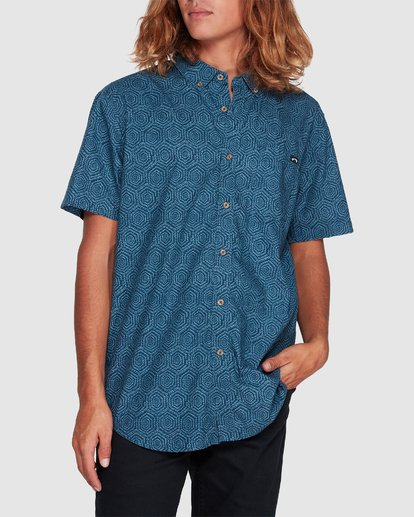 3 Sundays Mini Short Sleeve Shirt Blue 9507203 Billabong