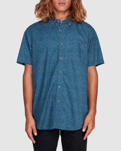 0 Sundays Mini Short Sleeve Shirt Blue 9507203 Billabong