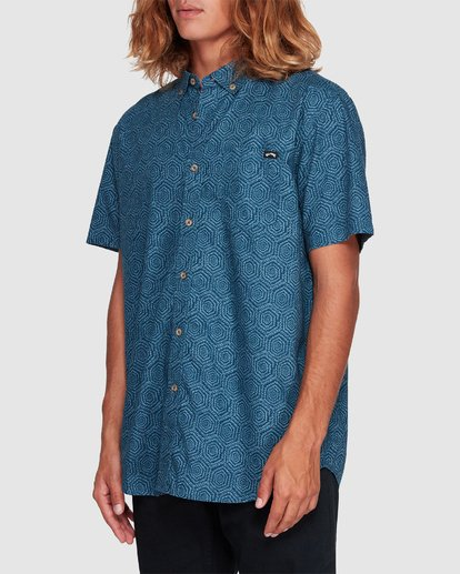 1 Sundays Mini Short Sleeve Shirt Blue 9507203 Billabong