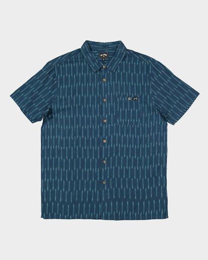 5 Sundays Jacquard Short Sleeve Shirt Blue 9507204 Billabong