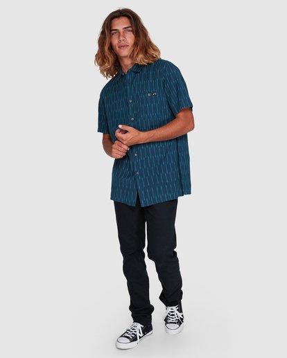 6 Sundays Jacquard Short Sleeve Shirt Blue 9507204 Billabong