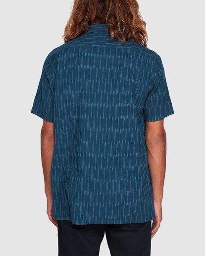 2 Sundays Jacquard Short Sleeve Shirt Blue 9507204 Billabong
