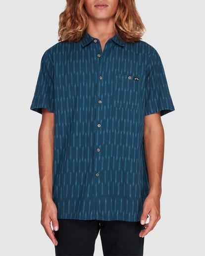0 Sundays Jacquard Short Sleeve Shirt Blue 9507204 Billabong