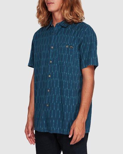 1 Sundays Jacquard Short Sleeve Shirt Blue 9507204 Billabong