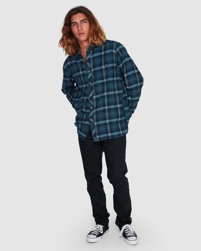 6 Wave Wash Flannel Shirt Blue 9507207 Billabong