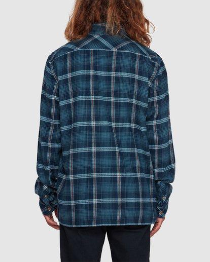 2 Wave Wash Flannel Shirt Blue 9507207 Billabong
