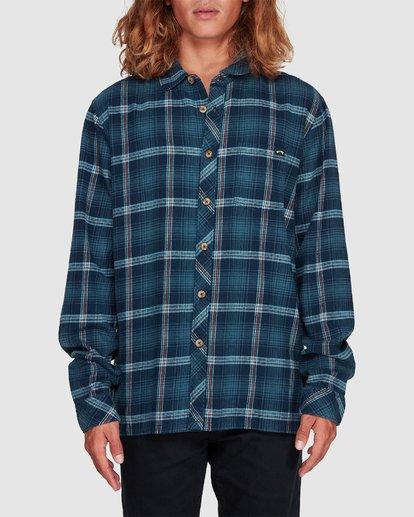 3 Wave Wash Flannel Shirt Blue 9507207 Billabong