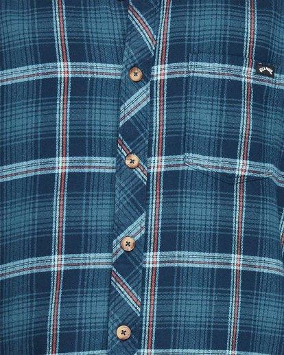 4 Wave Wash Flannel Shirt Blue 9507207 Billabong