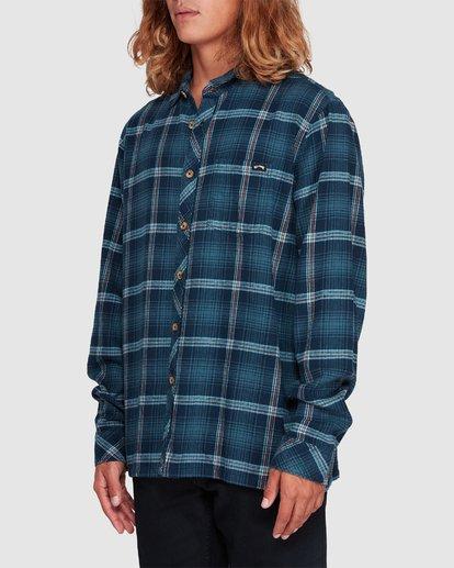 1 Wave Wash Flannel Shirt Blue 9507207 Billabong