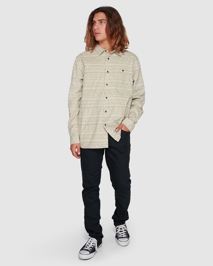 6 Tribe Mini Cord Long Sleeve Shirt Beige 9507208 Billabong