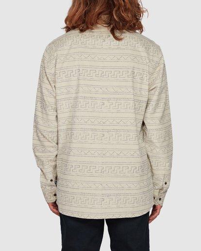 3 Tribe Mini Cord Long Sleeve Shirt Beige 9507208 Billabong